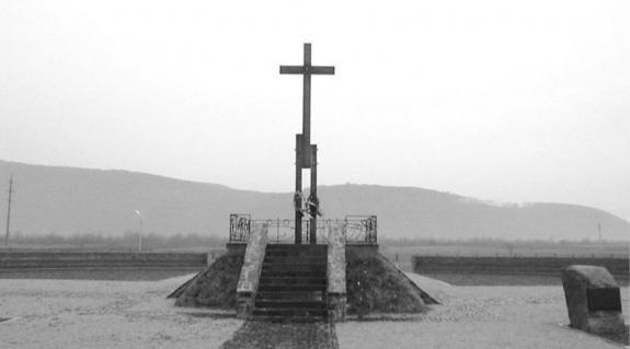 A szicsgárdisták emlékmûve a Huszt alatti Vörösmezõn
