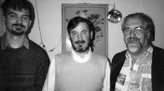 Felvételünkön (balról jobbra): Nagy László, Olasz Miklós, Hans Rüttimann