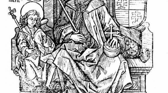 I. István (Fametszet Thuróczi János krónikájából)