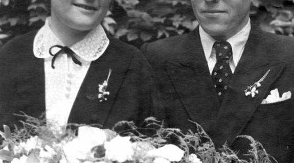 Esküvői kép 1956-ból