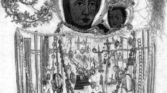 A máriapócsi templomban lévõ kegyképet 1676-ban készíttette a pócsi bíró a török rabságból való szabadulás emlékére. Elsõ könnyezése 1696 novemberében történt, s két hétig tartott. A kegyképrõl több másolat készült, de sem az eredeti, sem a másolatok nem könnyeztek, kivéve azt, amelyiket Pócsra visszavittek. Ez a másolat 1715 augusztusában három napig, 1905 decemberében 18 napon át könnyezett. A kegytemplomot 1948-ban XII. Pius pápa bazilika rangra emelte.