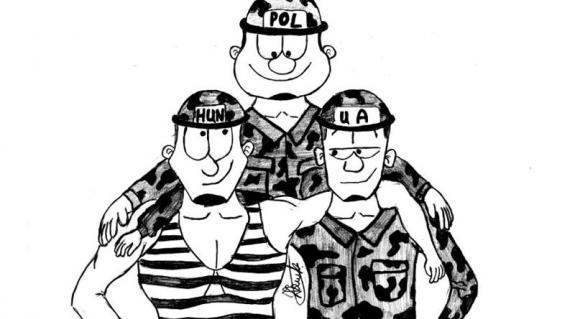 Badak Zsolt karikatúrája. Együtt őrizzük az amerikai olajat Irakban?