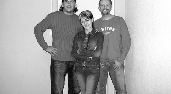 Zoy, Betti és Zsolt (balról jobbra)