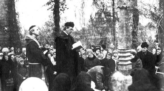 Kopjafaavatás Nagyszőlősön 1989-ben