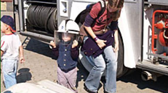 A gyerekek kedvence a tűzoltósisak volt