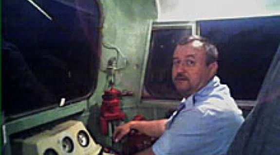 Nagy Sándor mozdonyvezető