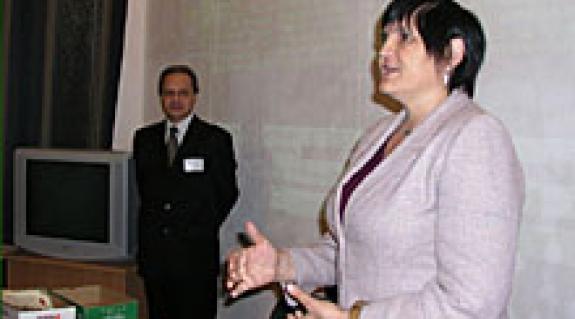 Dr. Barkáts Jenő és dr. Orosz Ildikó a konferencia megnyitóján