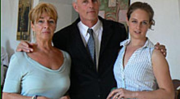 Báró Perényi János családjával