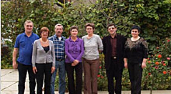 A holland vendégek, az asztélyi vendéglátók, valamint a nagyszőlősi cég vezetője