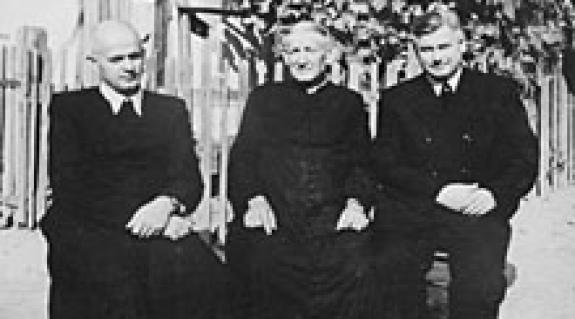 Balról jobbra: Galambos József (Bene), Erni Ferenc (Oroszi), Szólics Bálint (Királyháza)