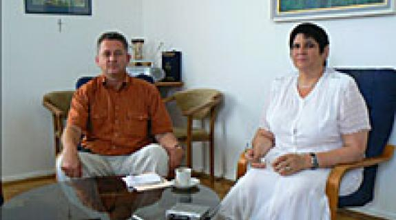Dr. Soós Kálmán, a Rákóczi-főiskola rektora és dr. Orosz Ildikó, a főiskola elnök asszonya