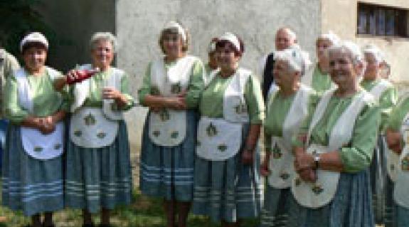 A jánosi Szivárvány Nyugdíjasklub énekkara