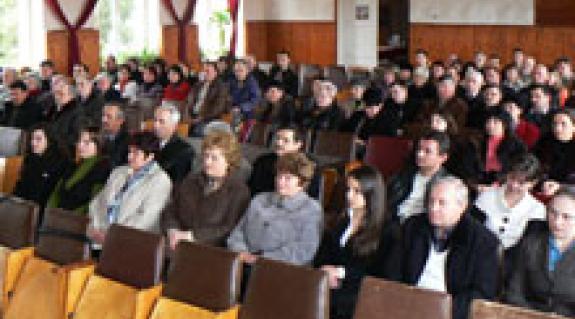Az Ungvári Középszintű Szervezet fórumának köldöttei