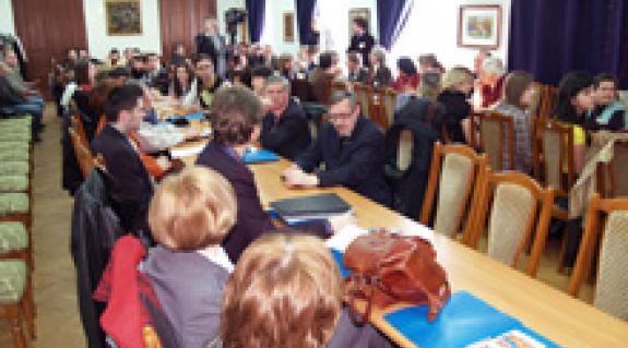 A tudományos konferencia résztvevői