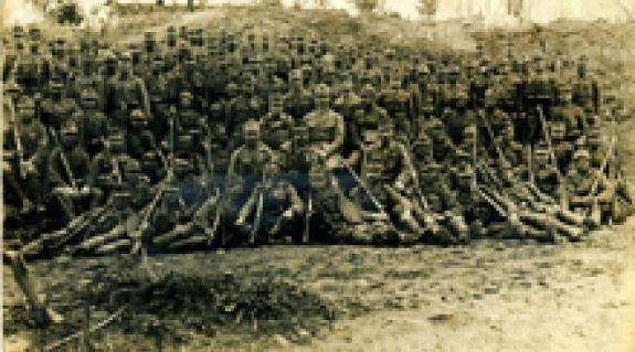 A 65. Ludwig gyalogezred egyik százada a keleti fronton 1917 tavaszán