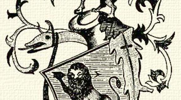 A cikben szereplő hét család közös címere