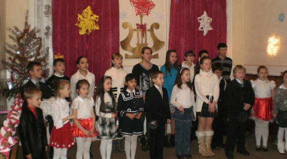 A művészeti iskola énekkara