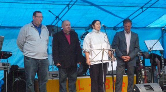 Heé Roland, Sin József, Kádár Szílvia és Balog Zoltán