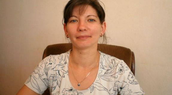 Kertész Viktória, a KMKSZ-alapszervezet elnöke
