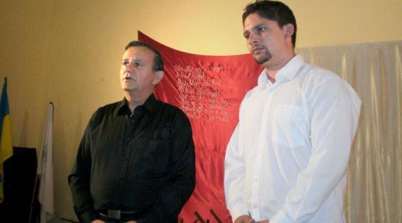 Bődi Szabolcs és Tóth Péter a közönség előtt