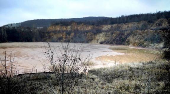 A nagymuzsalyi bánya tárolója