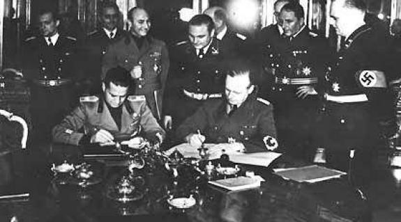 Az első bécsi döntés aláírása