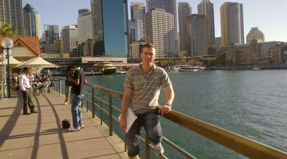 Balogh István Sydney egyik óceánparti sétányán...
