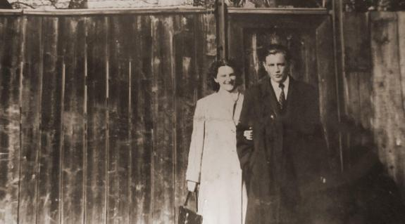 Pinyőzi Sándor és felesége