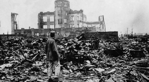Hirosima központja az atomtámadás után