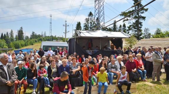 Fesztiválozók a Vereckei-hágón
