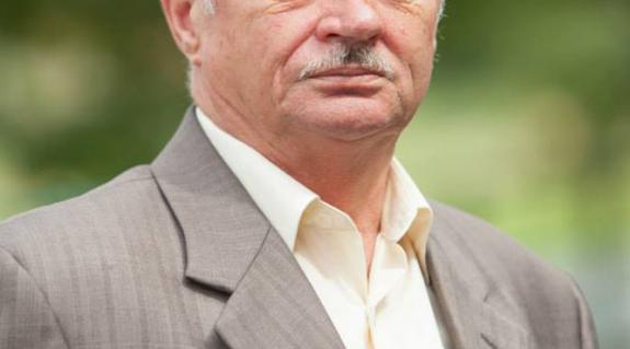 Sari Józseffel, a KMKSZ Felső-Tisza-vidéki Középszintű Szervezetének elnöke
