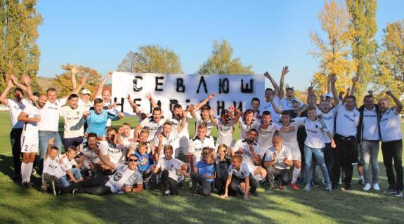 A bajnok Nagyszőlős csapata