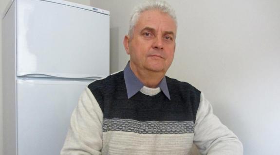 Bencze Rudolf, a KMKSZ Tiszaújlaki Alapszervezetének elnöke
