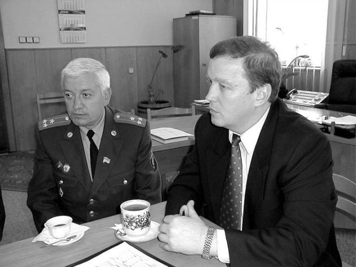 Orosz Gyula és Vitalij Makszimov (balról jobbra) a sajtótájékoztatón