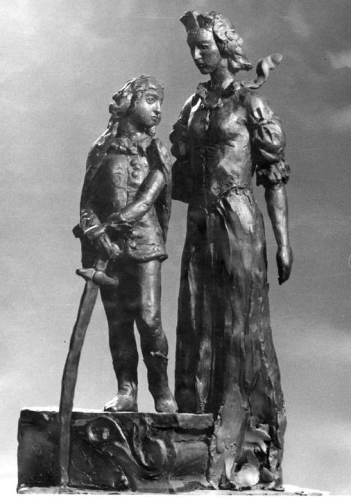 A munkácsi várban felállítani tervezett szoborkompozíció