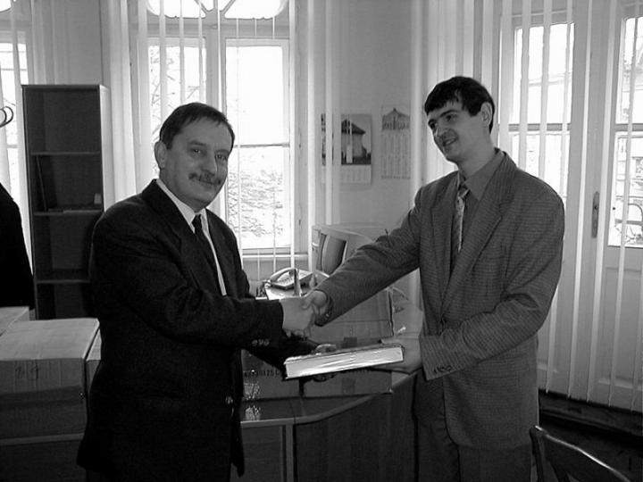 Tóth István, a HTMH főosztályvezetője és Csernicskó István, a KMTF igazgatóhelyettese