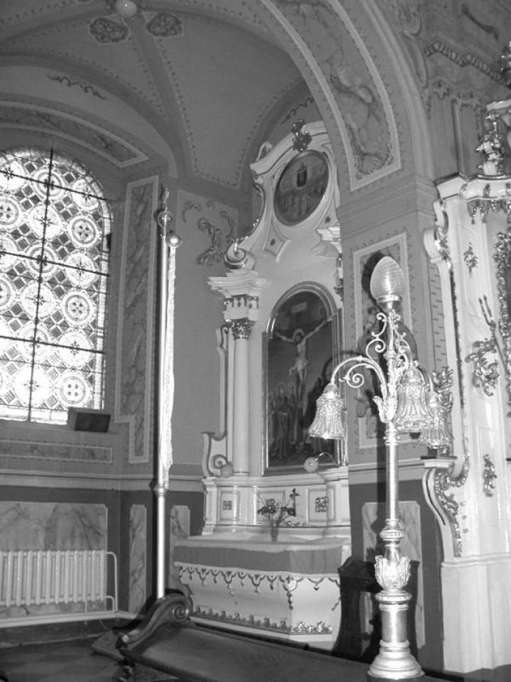 A Szent Kereszt oltár az ungvári katedrálisban