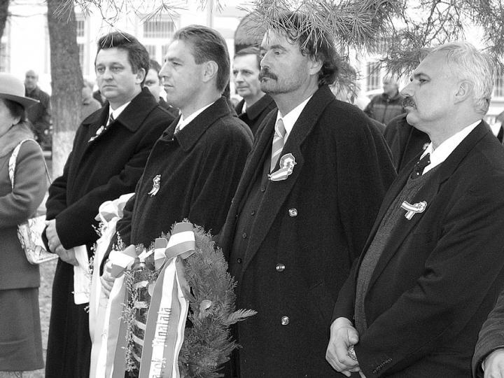 Felvételünk a március 15-ei ungvári megemlékezésen készült