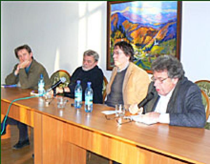 Háy János, Parti Nagy Lajos, Mészáros Sándor és Konrád György