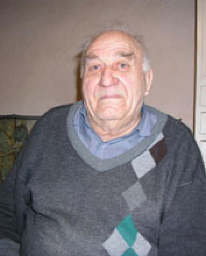 Bodnár Miklós, a község legidősebb lakója