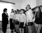 Japotetszki Ibolya és lelkes tanítványai