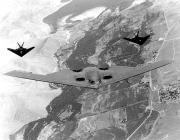B-2 Spirit lopakodó nehézbombázó, az amerikai támadások első hullámainak meghatározó harceszköze