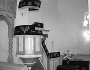 A templombelső vakolata alatt feltárt freskó egy részlete