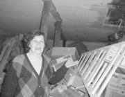 Puka Éva és az osztállyá átalakítandó raktárhelyiség