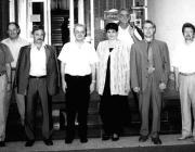 Az ungvári találkozó résztvevői (balról jobbra): dr. Soós Kálmán, Milován Sándor, Kontra Ferenc, Szabó Vilmos, dr. Orosz Ildikó, Szakács Zoltán, Kovács Miklós, Gulácsy Géza