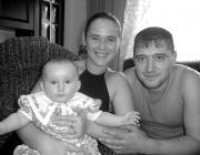 Varga Melinda és családja