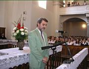 Petróczi Sándor, a HTMH megbízott elnöke a tanévnyitón