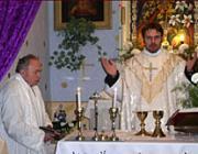Szentmise a beregardói kápolnában