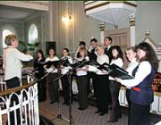 A szürtei református gyülekezet ifjúsági énekkara