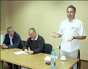 Manninger Jenő, a Zala megyei önkormányzat elnöke, országgyűlési képviselő, Németh Zsolt és Kovács Miklós a megnyitón